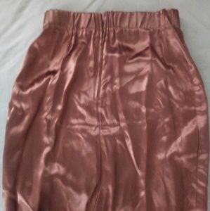 Dresses & Skirts - Copper satin skirt!